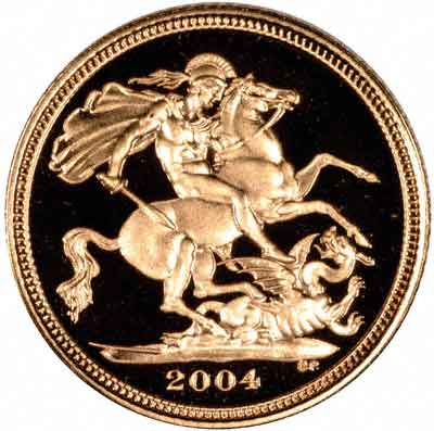 St George Reverse of 2004 Half Sovereign