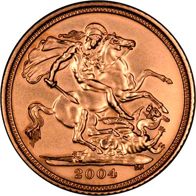 St George Reverse on the 2004 Half Sovereign
