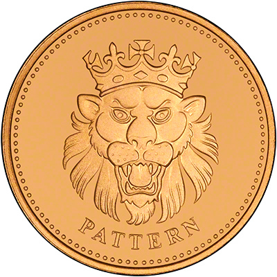 Lion or Leopard on Reverse of 2004 Gold Pattern Proof Pound Coin