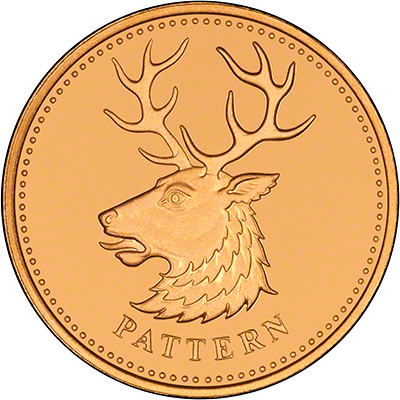White Hart Stag on Reverse of 2004 Gold Pattern Proof Pound Coin
