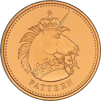 Unicorn on Reverse of 2004 Gold Pattern Proof Pound Coin