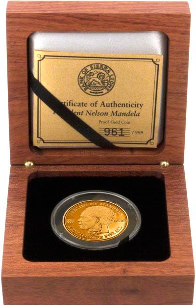 2004 Sierra Leone $500 Gold Proof Coin in Presentation Box & 2004 Sierra Leone Nelson Mandela Gold Coins   Chards   Tax Free Gold Aboutintivar.Com
