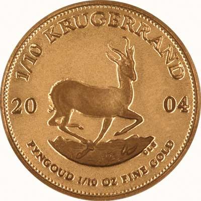 Reverse of 2004 Tenth Ounce Proof Krugerrand