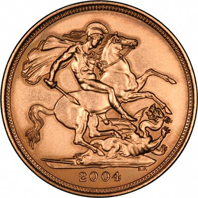 Reverse of 2004 Uncirculated Sovereign
