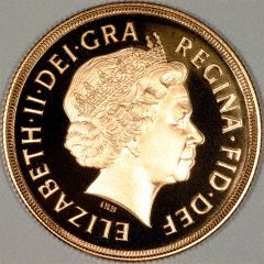Obverse of 2004 Gold Proof Two Pounds