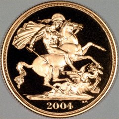 Reverse of 2004 Gold Proof Two Pounds