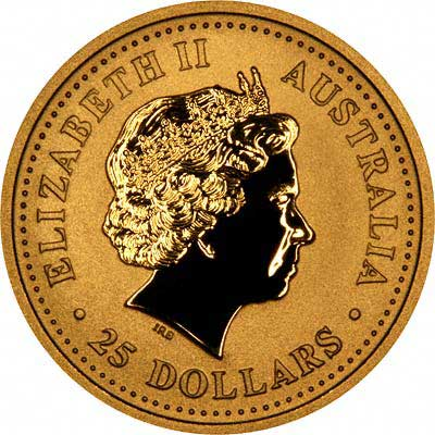 Obverse of 2005 Australian One Ounce Gold Coin