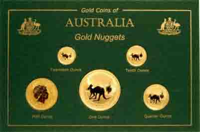 Set of 5 Australian 2005 Gold Nuggets