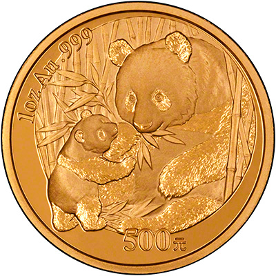 Reverse of 2005 Chinese One Ounce Gold Panda