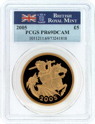 Slabbed 2005 Proof Gold Five Pounds