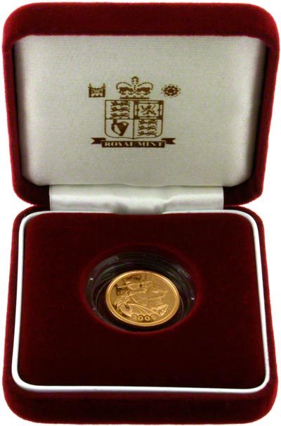 2005 Proof Half Sovereign in Presentation Box
