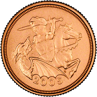 Reverse of 2005 Half Sovereign