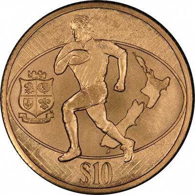 Reverse of 2005 New Zealand 10 Dollar Gold Coin