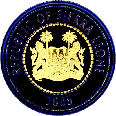Obverse of 2005 Sierra Leone Gold & Niobium Crown