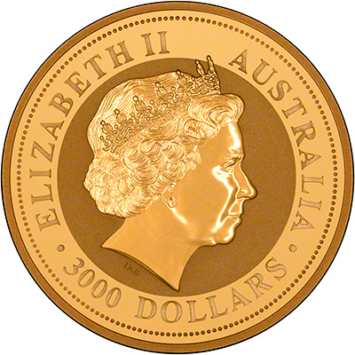 Obverse of 2006 Australian One Kilo Gold Coin