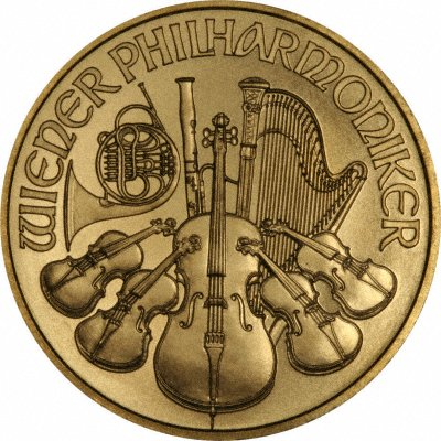 Reverse of 2009 One Ounce Austrian Gold Philharmonica Coin