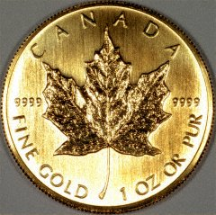 Reverse of 2006 Canadian One Ounce Gold Maple Leaf - 50 Dollars
