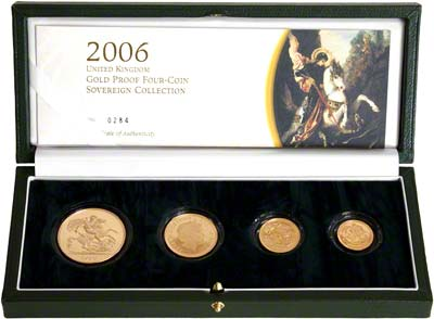 2006 Four Coin Sovereign Set in Presnetation Box
