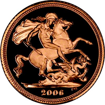 St George Reverse on the 2006 Half Sovereign