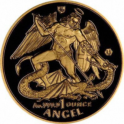 Reverse of 2006 Isle of Man One Ounce Gold Angel Coin