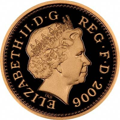 Obverse of 2006 Gold Proof £1 Coin