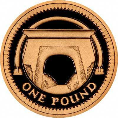 Egyptian Arch Bridge on Reverse of 2006 Proof Gold One Pound Coin