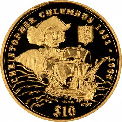Christopher Columbus or Reverse of Minuscule 2006 Sierra Gold $10 Proof Coin