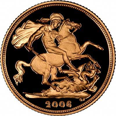 Reverse of 2006 Gold Proof Sovereign