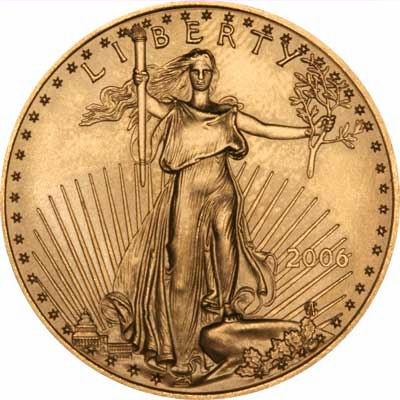 One Ounce Gold Eagle Reverse Design of 2006