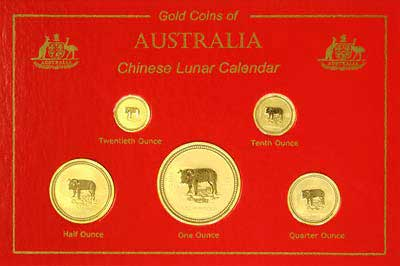2007 Gold Boar Coins