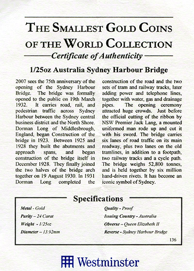 The Smallest Gold Coins Of The World Collection Chards