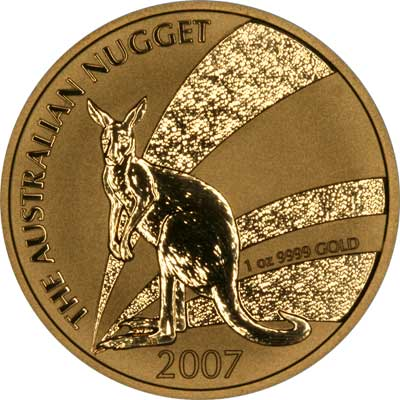 2007 Australian One Ounce Gold Kangaroo Nugget