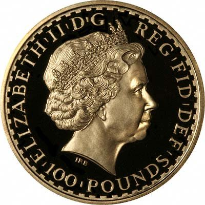 Obverse of 2008 Gold Proof Britannia