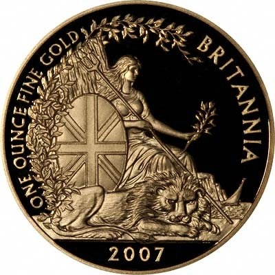 Reverse of 2007 Tenth Ounce Britannia - Ten Pounds