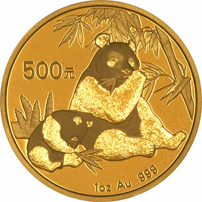 Reverse Design of a 2007 Chinese One Ounce Gold Panda Coin