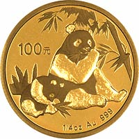 Reverse Design of a 2007 Chinese Quarter Ounce Gold Panda