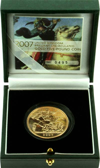 2007 Brilliant Uncirculated Five Pounds Gold Coin