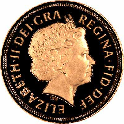 Obverse of 2007 Proof Half Sovereign
