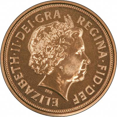 Obverse of 2007 Uncirculated Half Sovereign