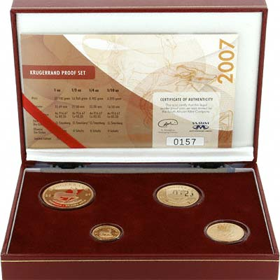2007 South African Proof Krugerrand 4 Coin Set