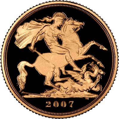 Reverse of 2007 Proof Sovereign