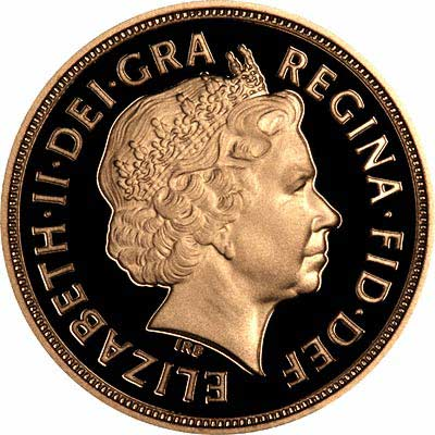 Obverse of 2007 Sovereign & Half Sovereign