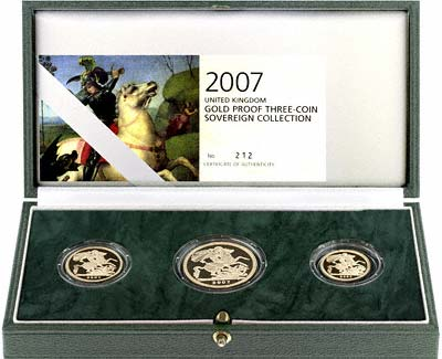 2007 Three Coin Gold Proof Set in Case