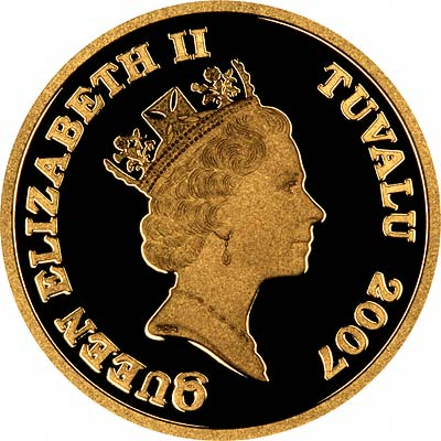 Obverse of 2007 Tuvalu Gold Owl