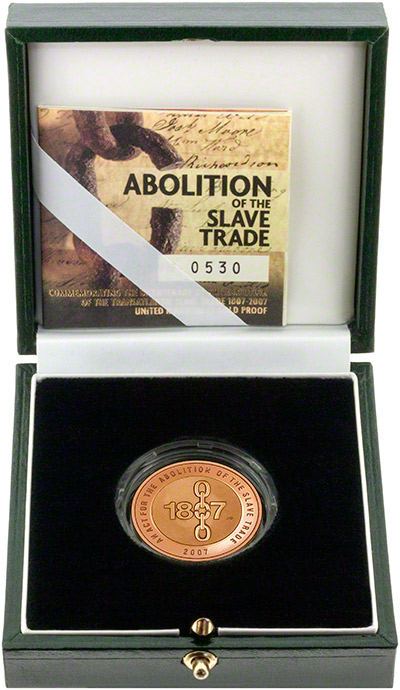 2007 Abolition of Slave Trade Gold Proof Two Pound Coin in Presentation Box