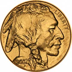 Obverse of US Fine Gold Buffalo