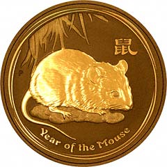 Reverse of 2008 One Ounce Gold Australian Lunar Calendar