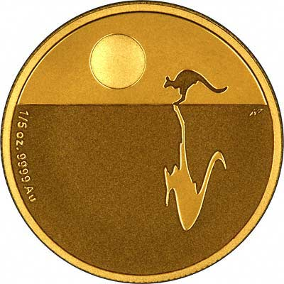 Reverse of 2008 Australian 'Icons of the Commonwealth' $25 Gold Proof