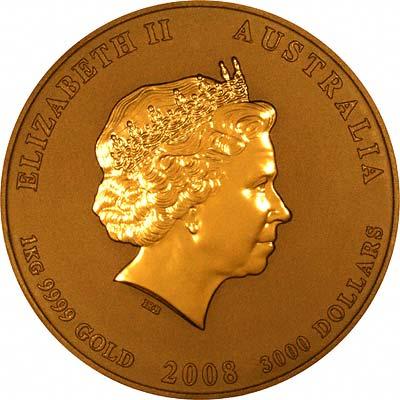 2008 Australian One Kilo Gold Mouse Or Rat Coins