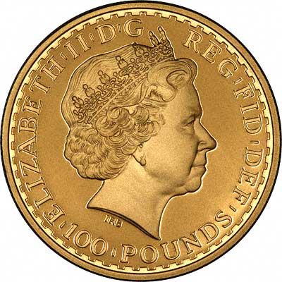 Obverse of 2008 Gold Bullion Britannia